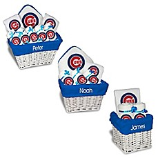 image of Designs by Chad and Jake MLB Personalized Chicago Cubs Baby Gift Basket