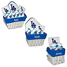 image of Designs by Chad and Jake MLB Personalized Los Angeles Dodgers Baby Gift Basket