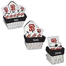 Personalized gift sets buybuy baby image of designs by chad and jake mlb personalized san francisco giants baby gift basket negle Image collections