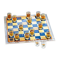 image of Game Night Shot Glasses Checkers Game