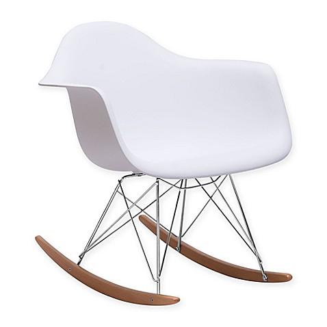 Zuo 174 Modern Rocket Chair In White Bed Bath Amp Beyond