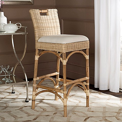 Safavieh Fremont Bar Stool In Natural Bed Bath Amp Beyond