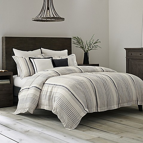 Wamsutta Collection® Monaco Duvet Cover in Slate/White