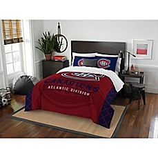 image of NHL Montreal Canadiens Draft Comforter Set