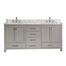 image of avanity modero 73 inch double vanity in grey collection - Bathroom Cabinets Bed Bath And Beyond