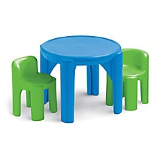 image of Little Tikes® Bright 'N Bold™ 3-Piece Table and Chairs Set