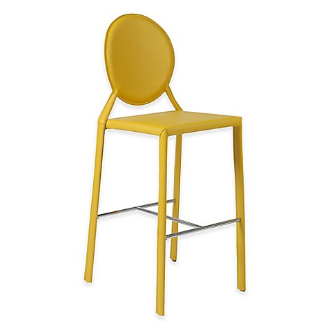 Buy Eurostyle Isabella Barstool In Yellow Chrome Set Of
