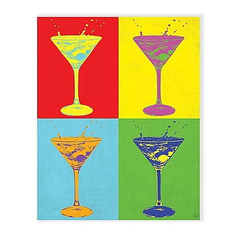 Martini Pop Primer 16-Inch x 20-Inch Canvas Wall Art - Bed Bath & Beyond