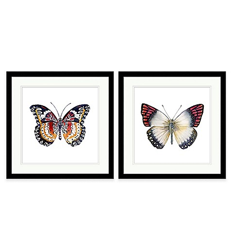 Butterfly extra large framed wall art bed bath beyond for Extra large wall art