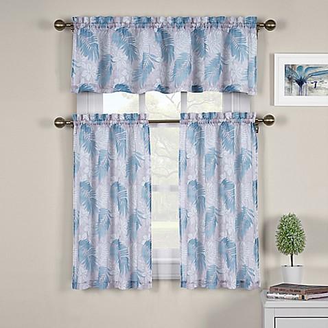 J Queen New York St Croix Kitchen Window Curtain Tiers