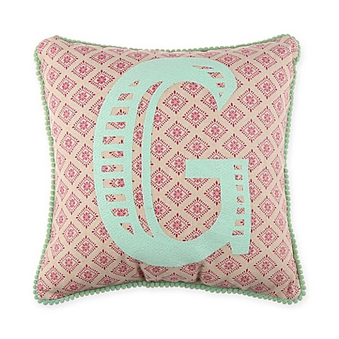 Monogram Letter Throw Pillow : Monogram Letter