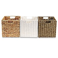 Real Simple® Woven Folding Storage Basket Collection