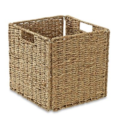image of Real Simple® Woven Sea Grass Folding Storage Basket in Natural