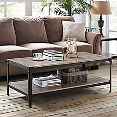 image of Walker Edison Wheatland Angle Coffee Table