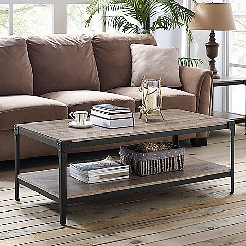 Forest gate wheatland angle coffee table bed bath beyond - Wohnzimmertisch groay ...