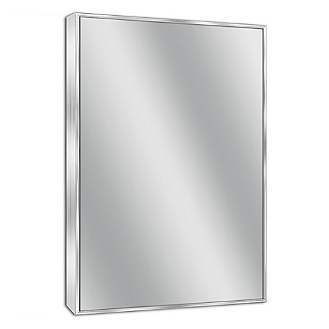 buy spectrum 24 inch x 30 inch rectangular framed wall mirror in chrome from bed bath beyond. Black Bedroom Furniture Sets. Home Design Ideas