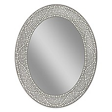 image of Opal Mosaic 23-Inch x 29-Inch Large Frameless Wall Mirror