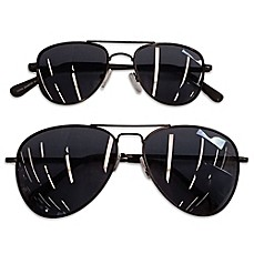 image of Daddy & Me Tiny Treasures 2-Piece Aviator Sunglasses Set in Black