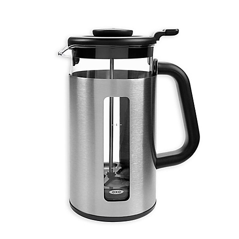 oxo good grips 8 cup french press with groundslifter bed bath beyond. Black Bedroom Furniture Sets. Home Design Ideas