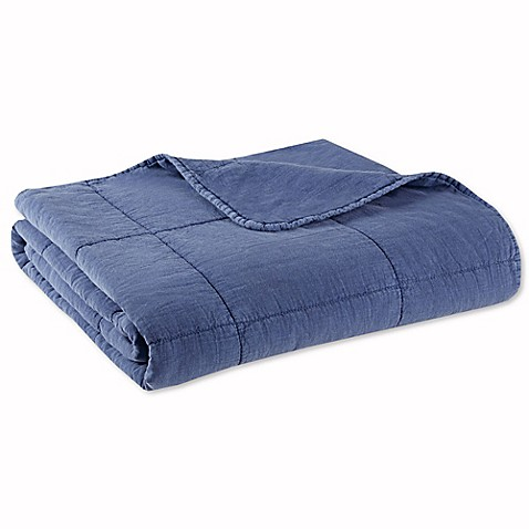 Buy Ink Ivy Casper Cotton Quilted Throw Blanket In Blue