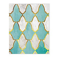 image of Teal and Marble Tiles Wall Art Collection