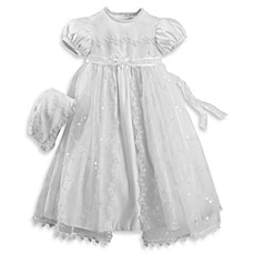 image of Girl's Split Front Christening Dress by Lauren Madison