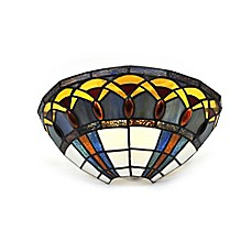 image of It's Exciting™ Lighting Half Moon with Jewels LED Stained Glass Wall Sconce with Remote