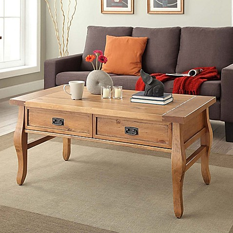 Santa Fe Coffee Table In Antique Pine