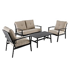 image of 4-Piece Punch Metal Back Furniture and Seating Set