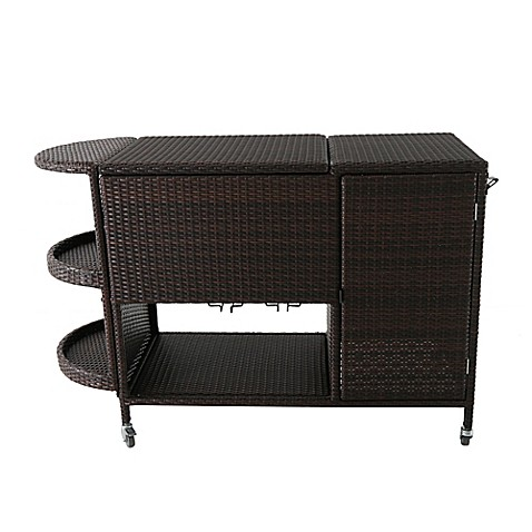 Large Wicker Cooler Cart In Brown Bed Bath Amp Beyond