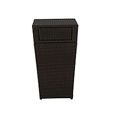 image of 13-Gallon Wicker Trash Can in Brown