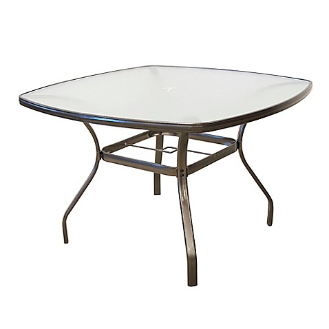 Tempered glass dining table in bronze bed bath beyond for Tempered glass dining table