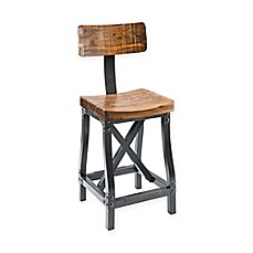image of INK+IVY Lancaster Bar Stool in Amber/Graphite