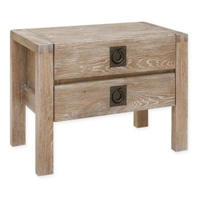 image of INK+IVY Oaktown Nightstand in Reclaimed Grey
