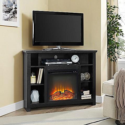buy walker edison 44 inch corner highboy fireplace tv