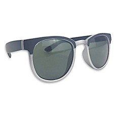 image of On The Verge Preppy Sunglasses in Black/Silver