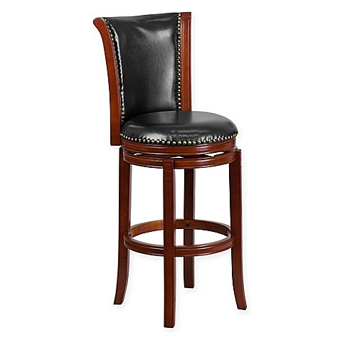 Buy Flash Furniture Padded High Back Swivel Barstool In