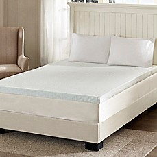 image of Sleep Philosophy Flexapedic 3-Inch Gel Memory Foam Mattress Topper in White