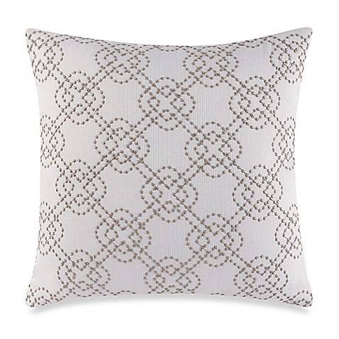 Make Your Own Decorative Pillow Covers : Make-Your-Own-Pillow Cross-Stich Throw Pillow Cover in Ivory - Bed Bath & Beyond