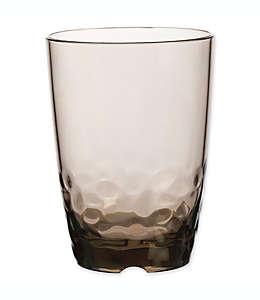 Vaso de acrílico doble Destination Summer Pebbles color gris humo