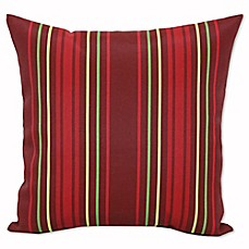 image of Micro Stripe Outdoor Square Throw Pillows (Set of 2)