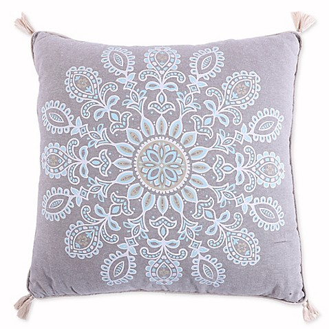 Levtex Home Amelie Screenprint Throw Pillow with Tassels in Brown - Bed Bath & Beyond