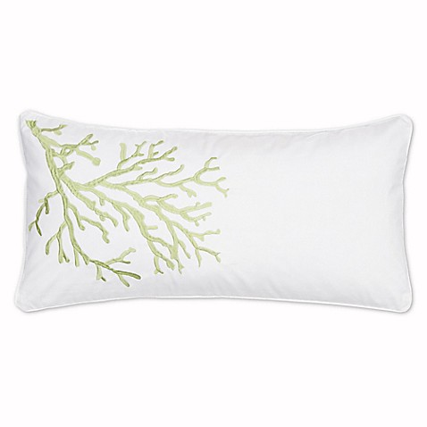 Levtex Home Arielle Embroidered Coral Oblong Throw Pillow - Bed Bath & Beyond