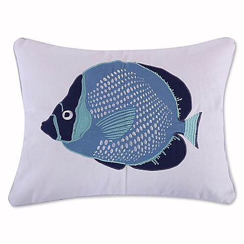 Levtex Home Sea Point Fish Oblong Throw Pillow in Blue - Bed Bath & Beyond