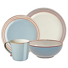 image of Denby Heritage Terrace 4-Piece Place Setting in Grey