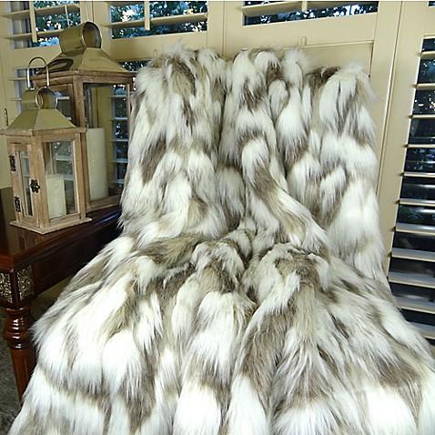 Tibet Fox Faux Fur Blanket Bed Bath Amp Beyond