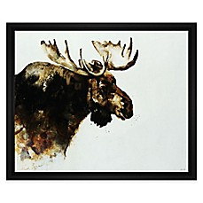 image of Moose Embellished Giclée Print Canvas Wall Art
