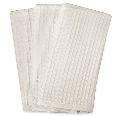 Buy Real Simple Microfiber Kitchen Towels In White Set Of 3 From Bed Bath Beyond