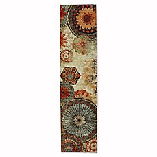 image of Mohawk Home Strata Caravan Medallion 2-Foot x 5-Foot Multicolor Runner
