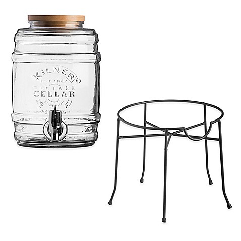 image of kilner barrel beverage dispenser and stand - Beverage Dispenser With Stand